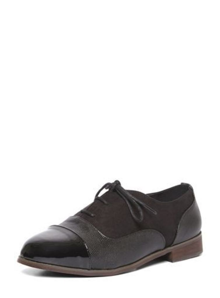 Black Lace Up Brogue Shoes, Black
