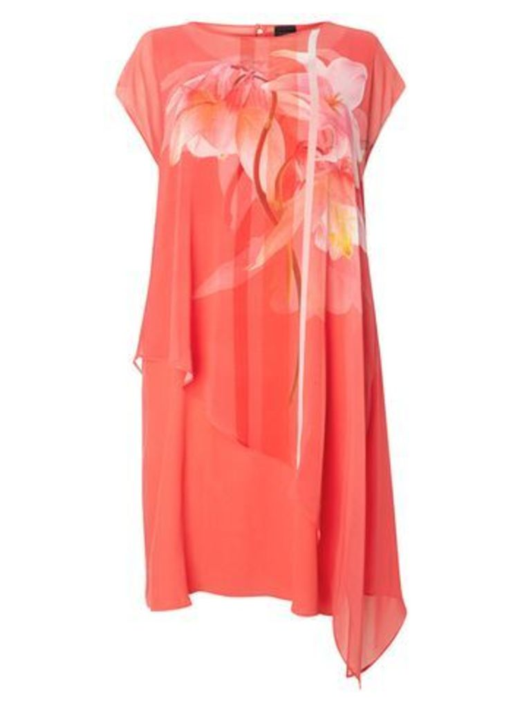 Live Unlimited Floral Print Shift Dress, Coral