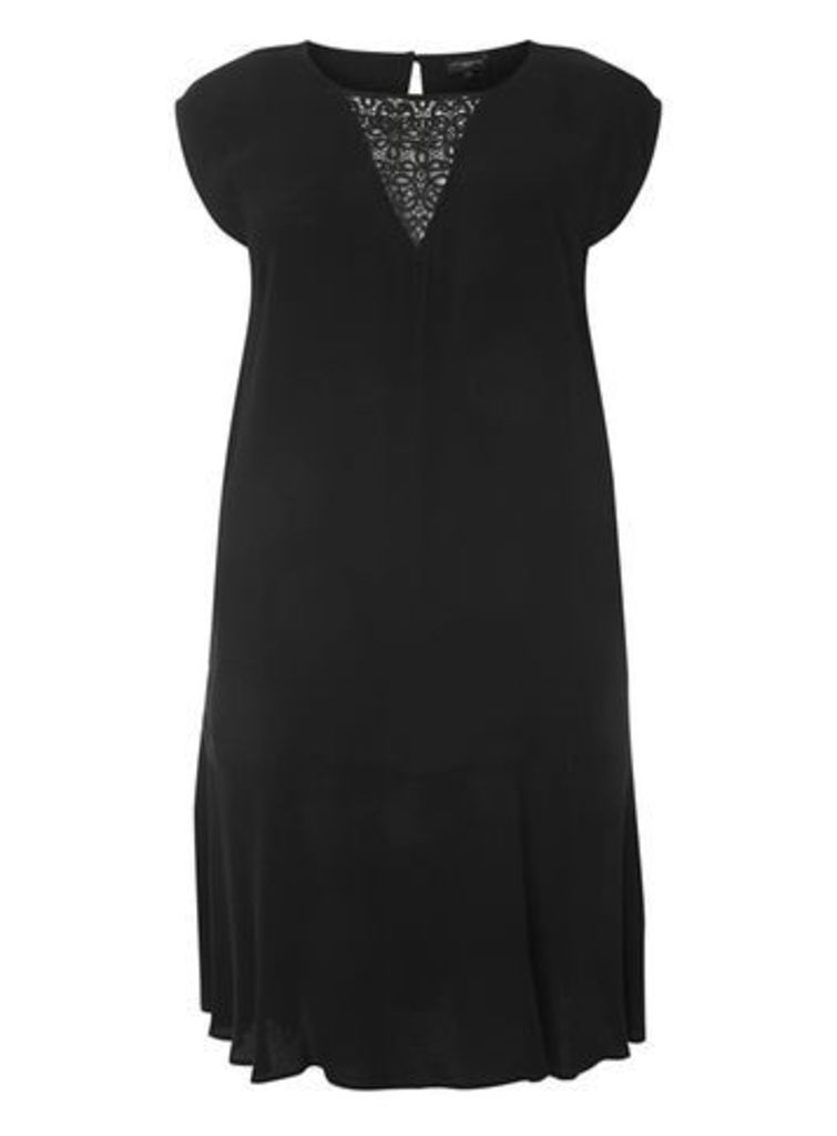 Live Unlimited Black Lace Insert Dress, Black