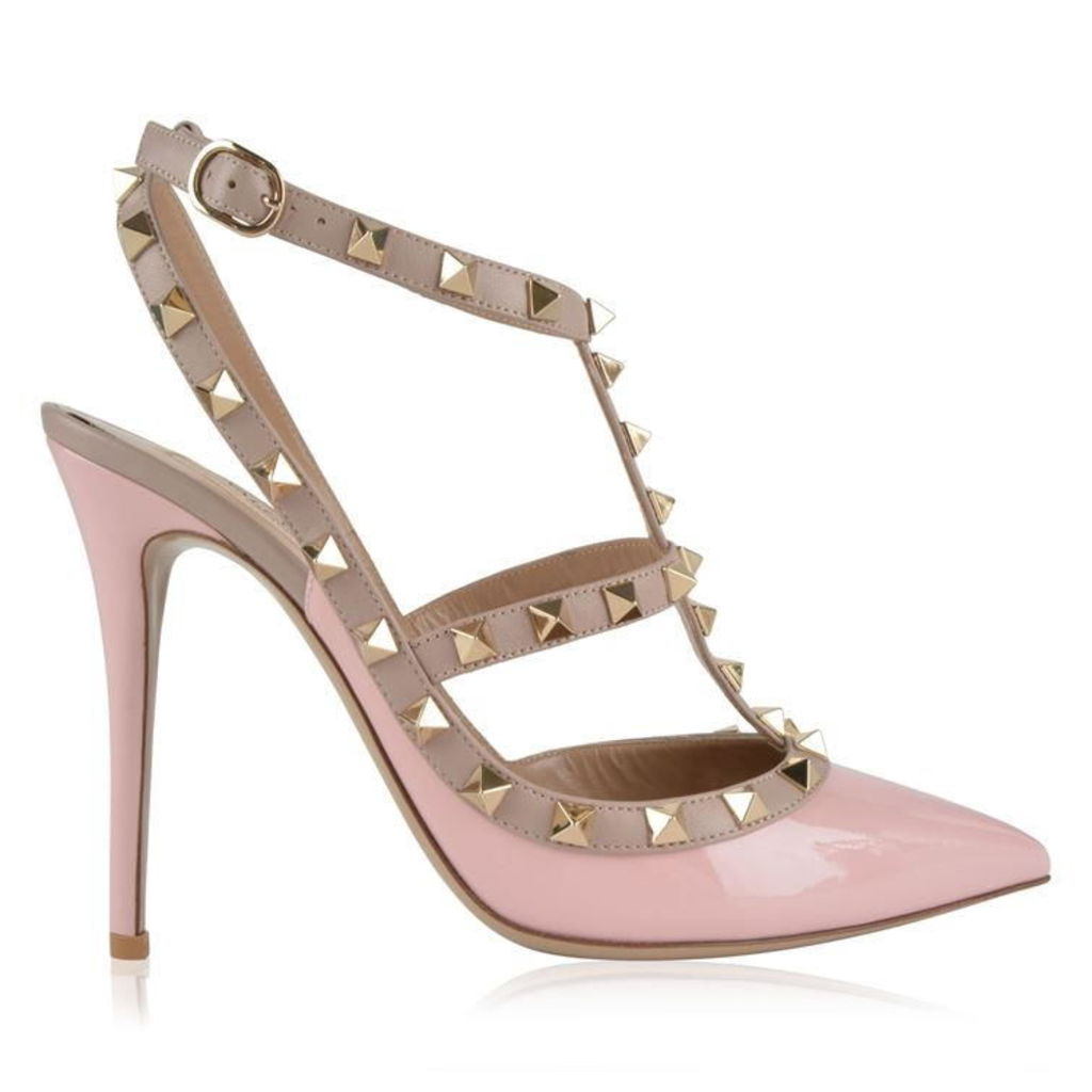 VALENTINO Rockstud 100 Ankle Strap Heels