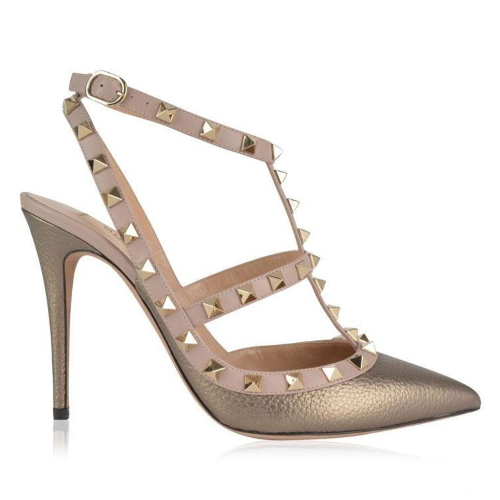 VALENTINO Valentino Rockstud 100 Ankle Strap Heels
