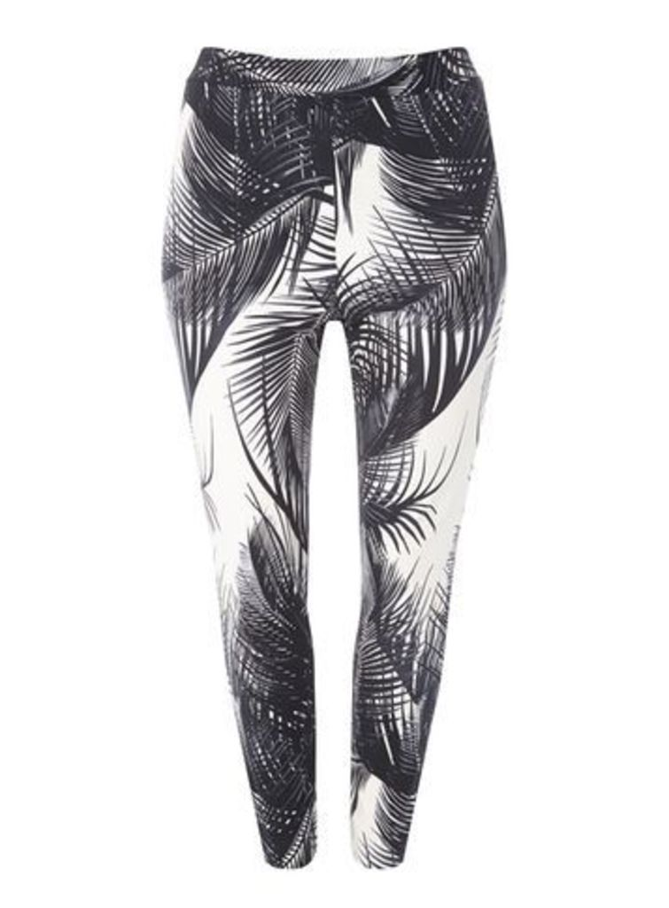 Live Unlimited Black Palm Print Trousers, Black