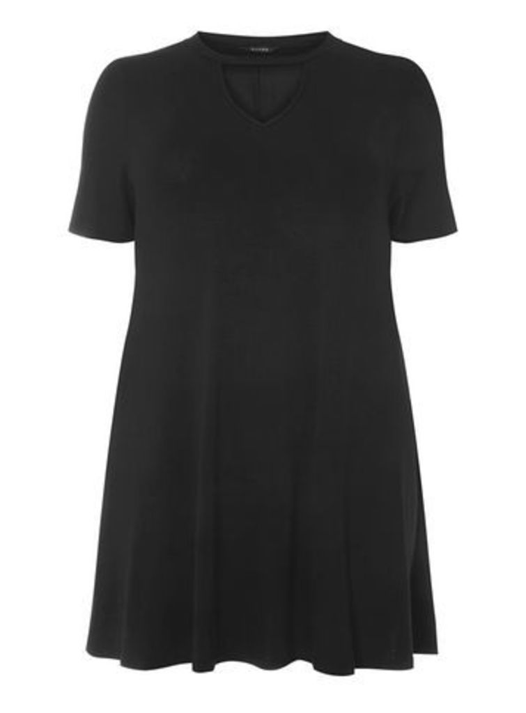 Black Peekaboo Tunic, Black