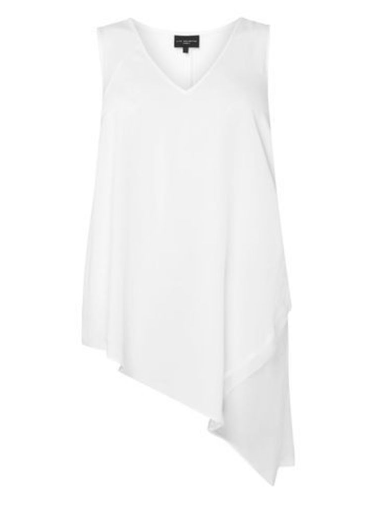 Live Unlimited Ivory Chiffon Mix Vest Top, Ivory