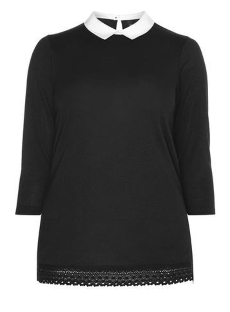 Black Soft Touch 2 In 1 Top, Black