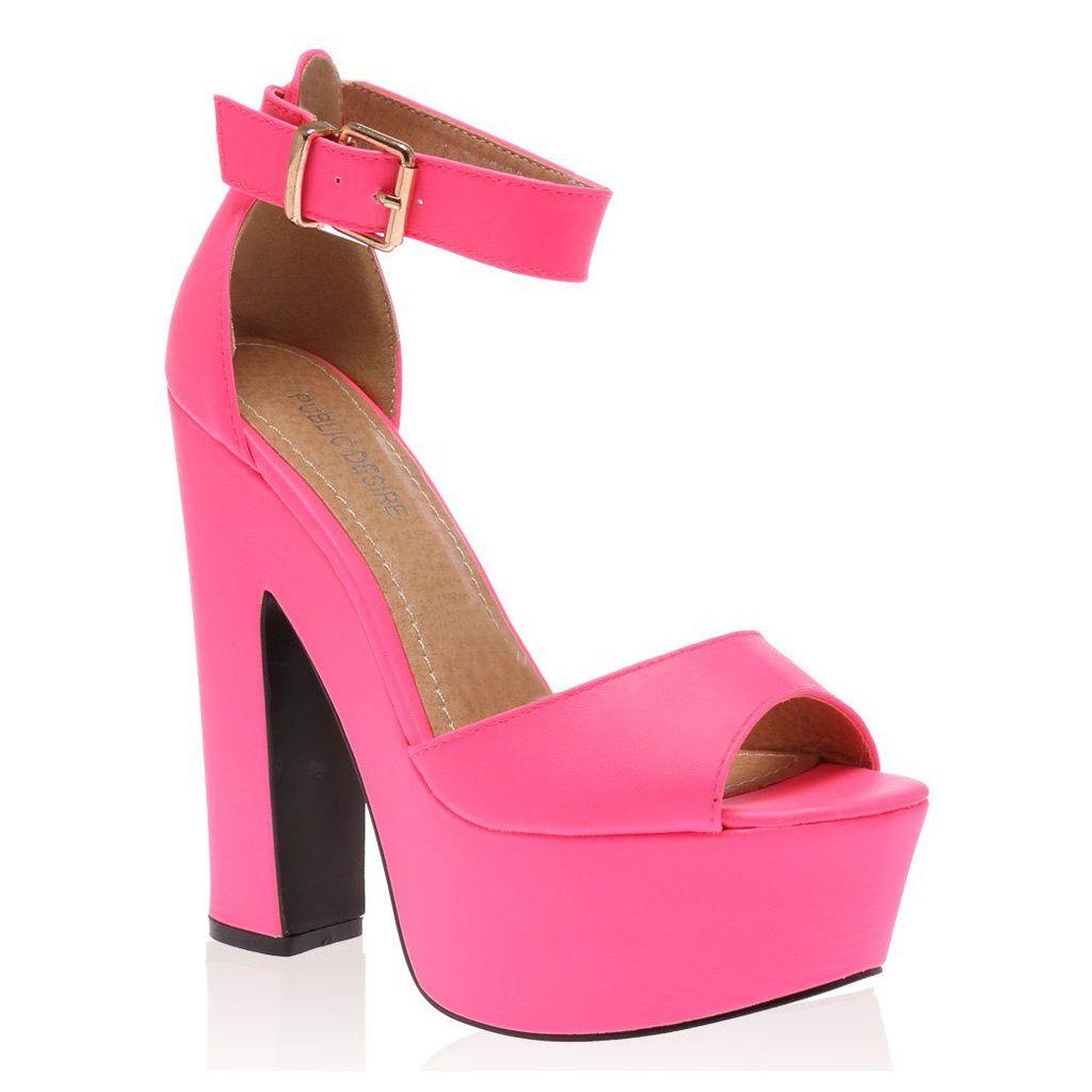 Brandi Platform High Heel Sandals, Fuschia