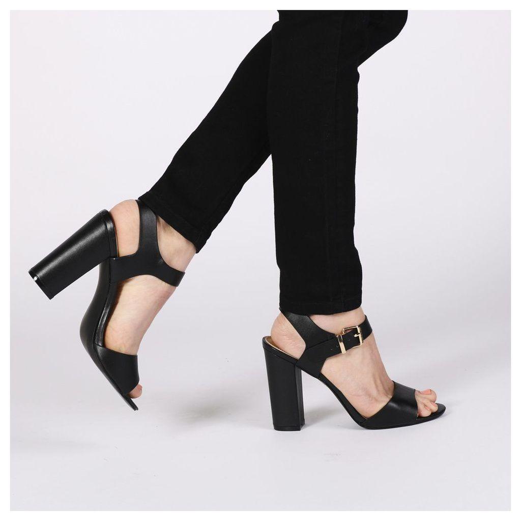 Alicia Block Heels, Black