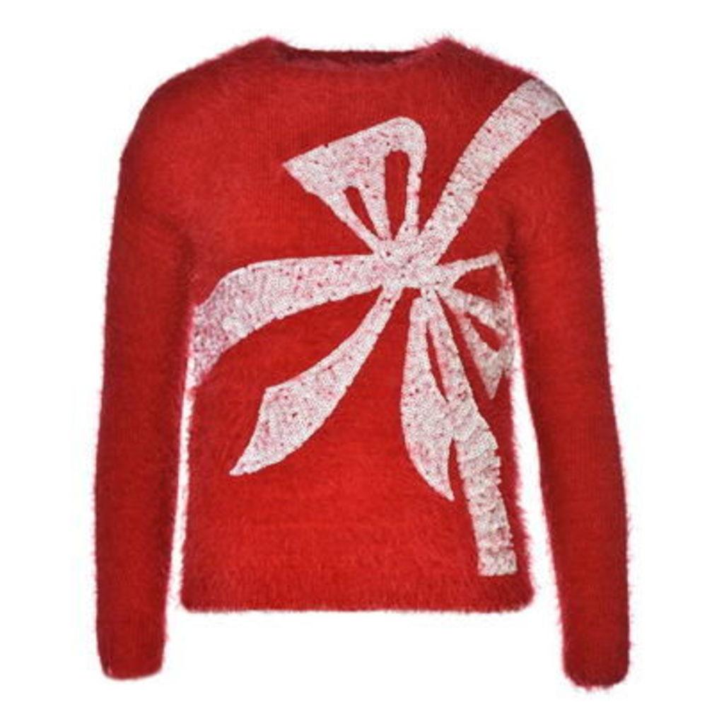 Star Christmas Knit Jumper Ladies