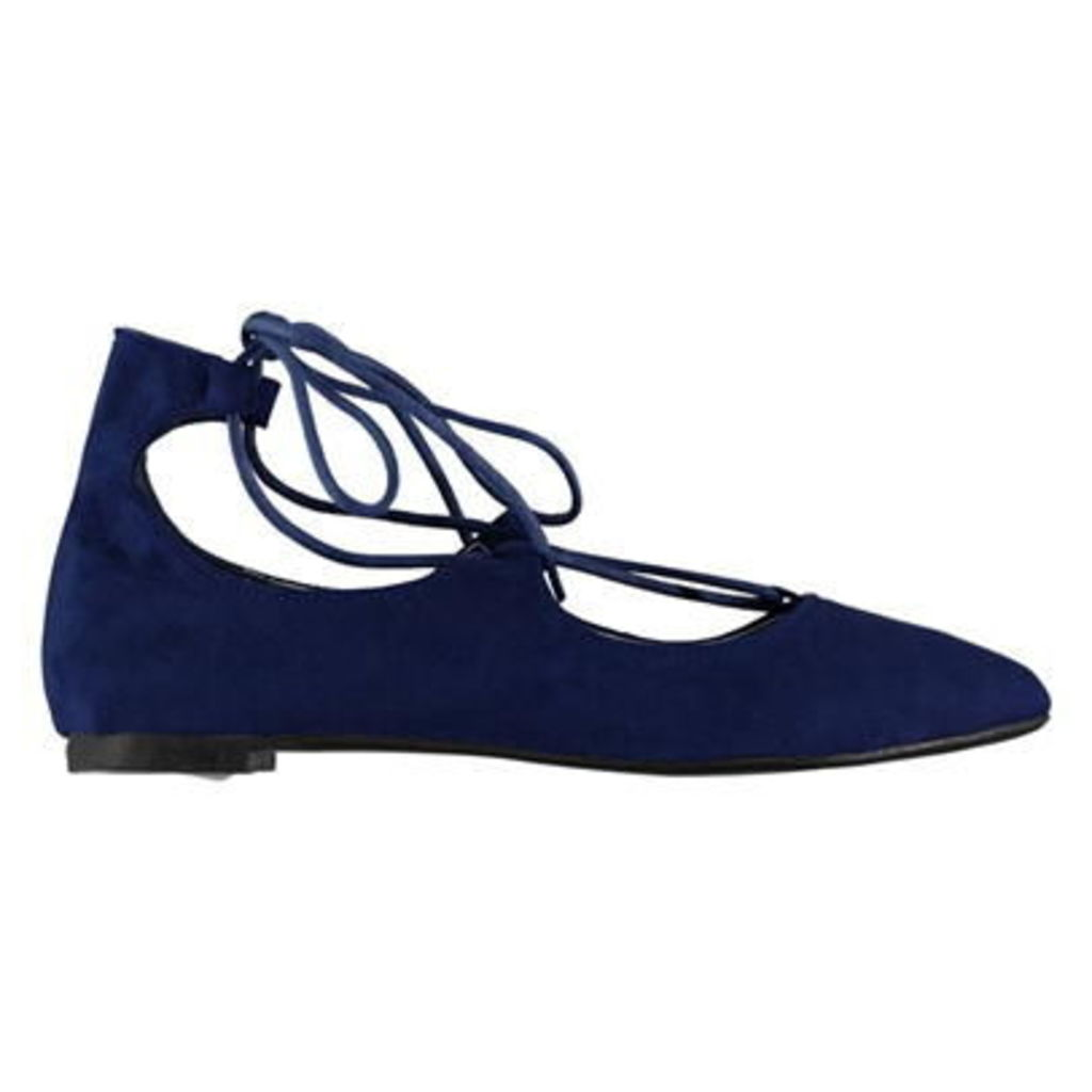 Rock and Rags Tie Front Ballerina Shoes