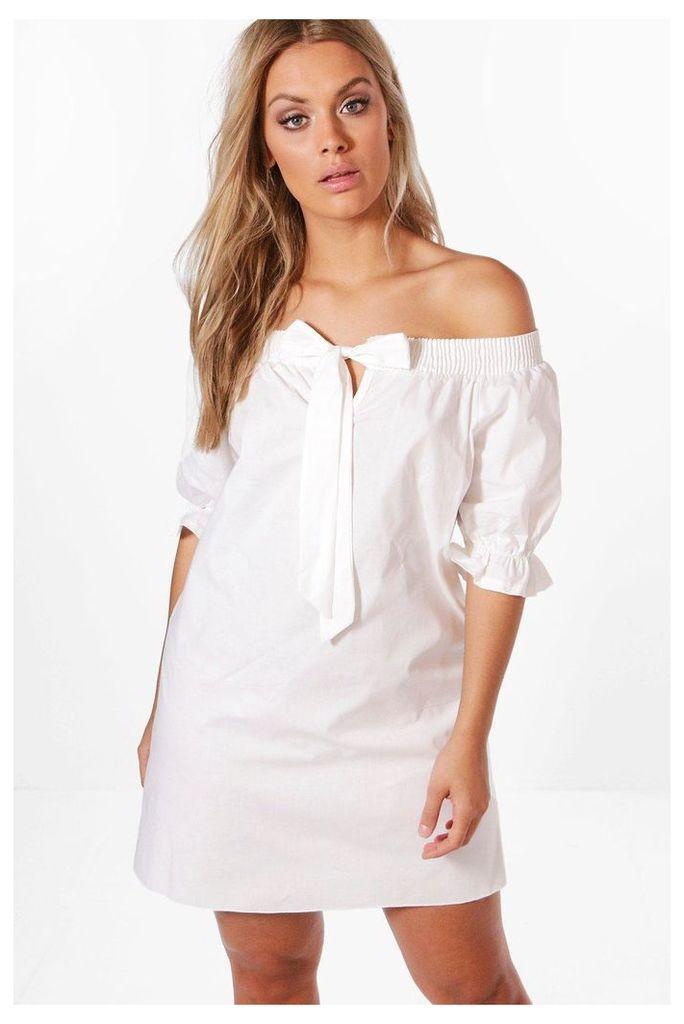 Lisa Off The Shoulder Dress - white