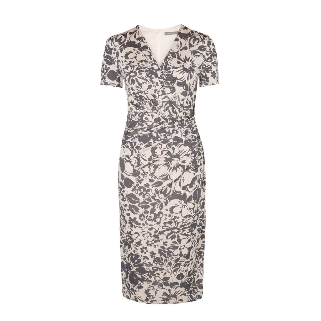 VNeck Printed Twist Dress