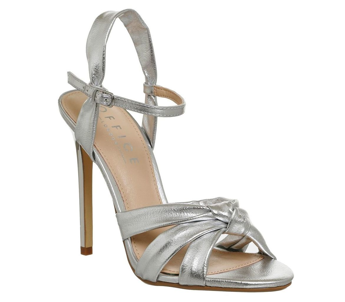 Office Hollie knot strap sandals, Silver