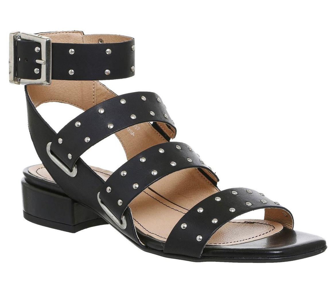Office Scorpion studded multi strap sandals, Black