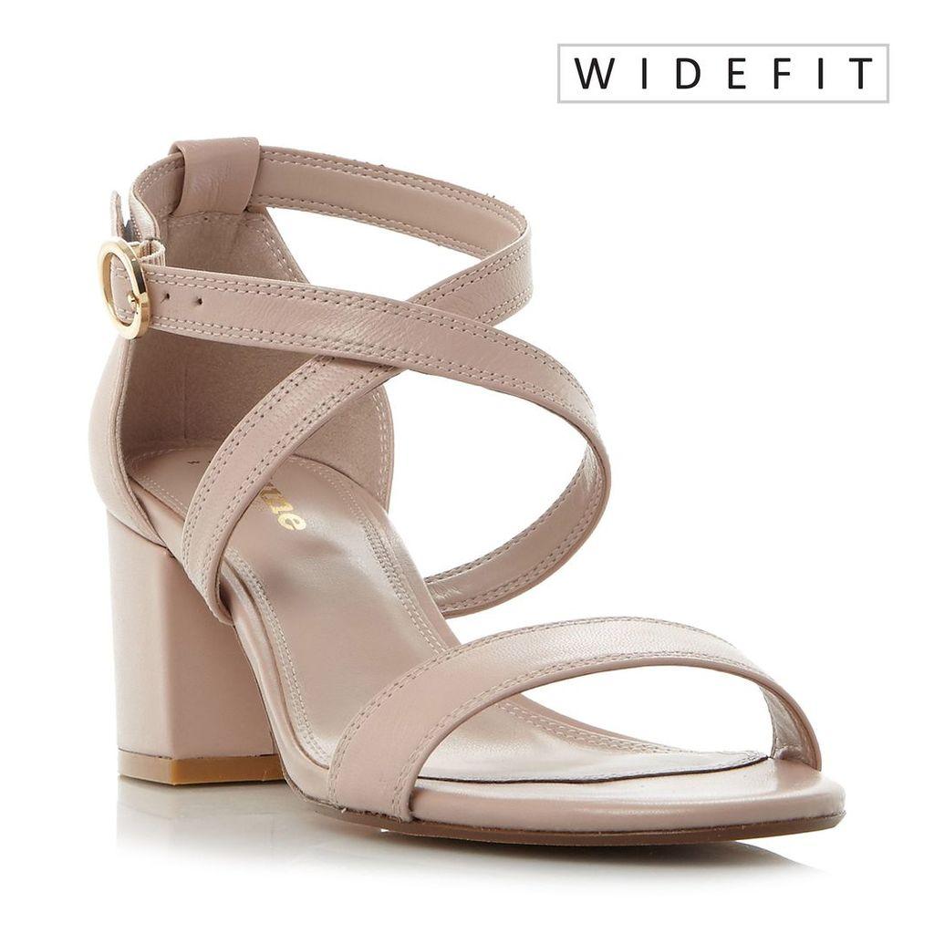Dune Montie wide fit sandals, Pink