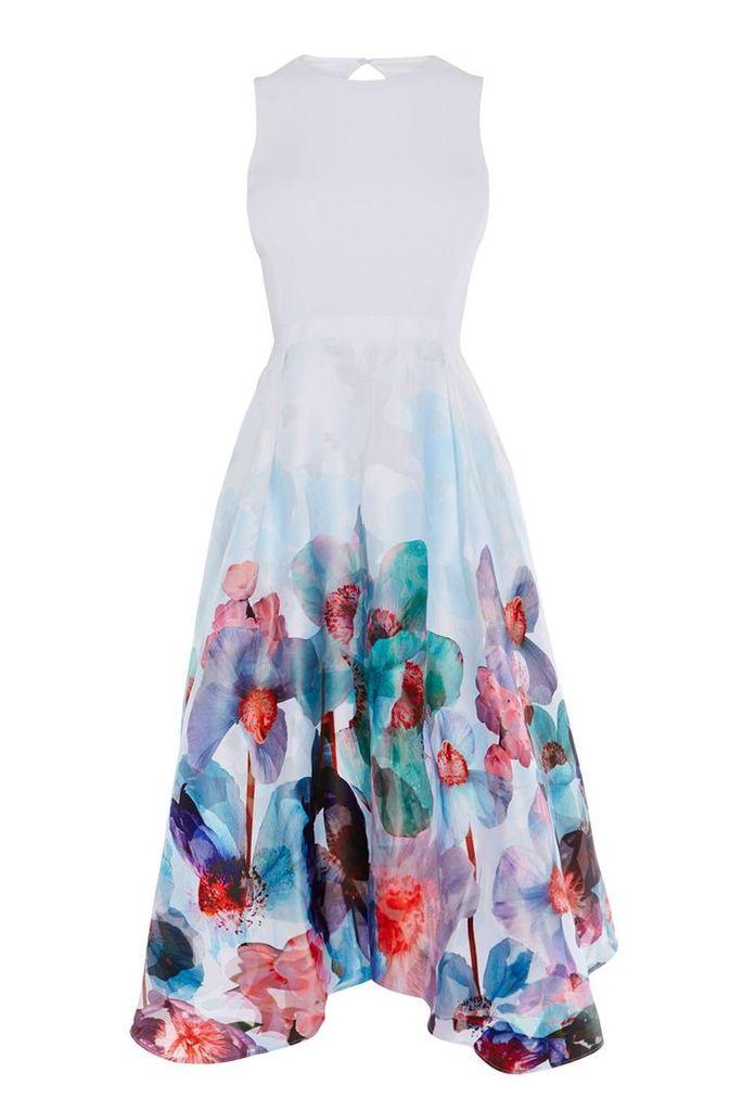 Coast Azure Orsay Midi Dress, Multi-Coloured