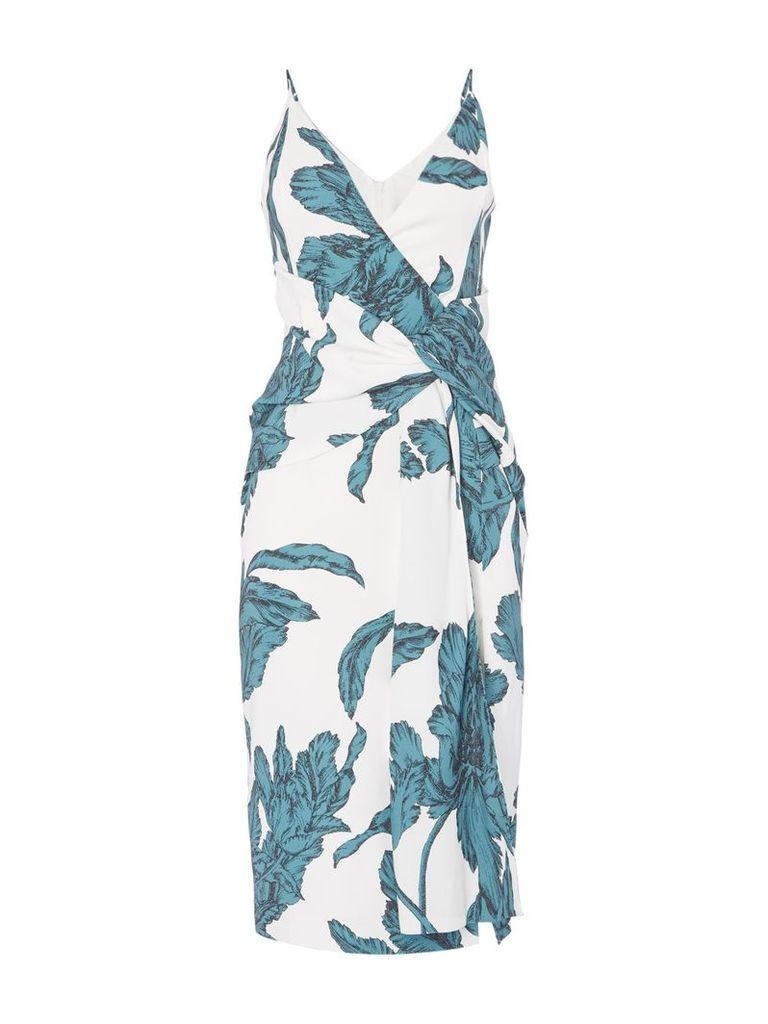 C/MEO Sleevess knot detail midi dress, Green