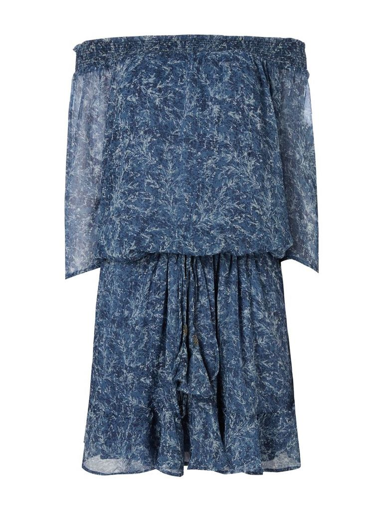 Maison De Nimes Sea Mist Bardot Dress, Multi-Coloured