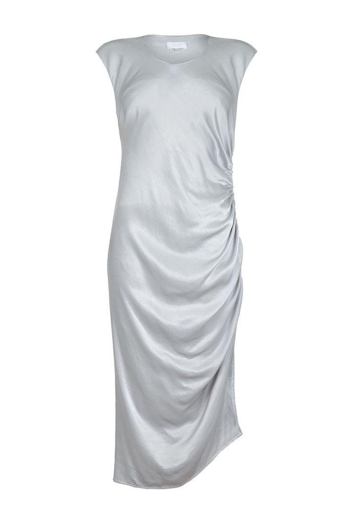 Ghost Saskia Midi Dress, Silver