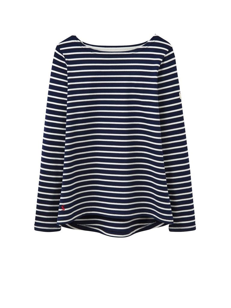 Joules Long sleeves crew neck jersey top, Navy Stripe