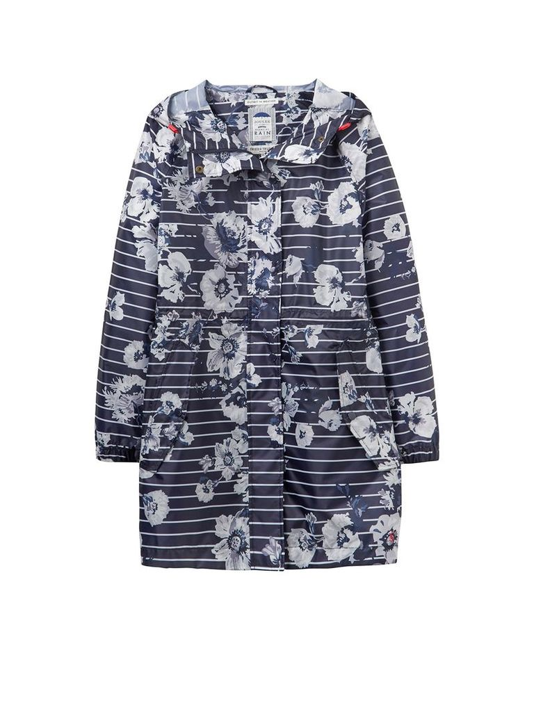 Joules Long sleeves hooded waterproof parka, French Navy