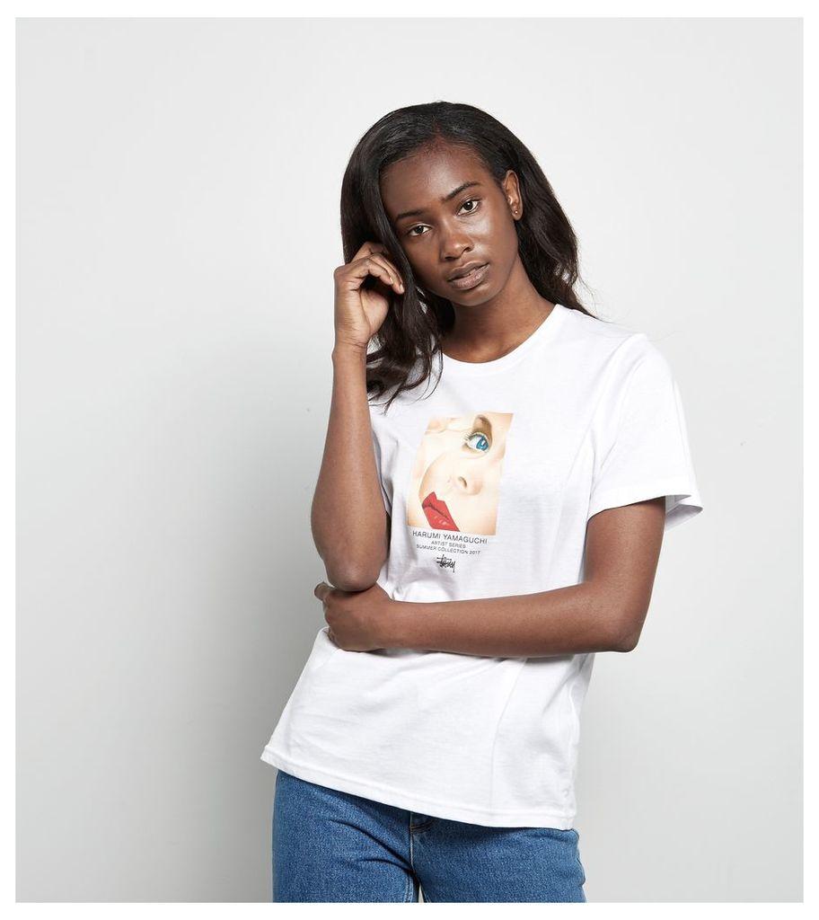 Stussy Harumi Girl T-Shirt, White