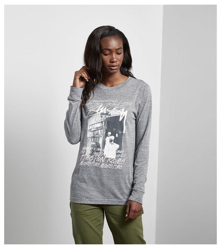 Stussy Long-Sleeved Tribe T-Shirt, Grey
