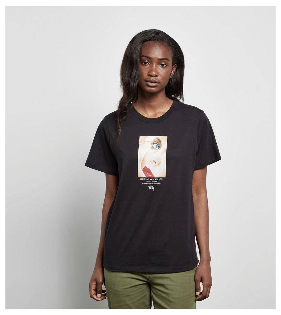 Stussy Harumi Girl T-Shirt, Black