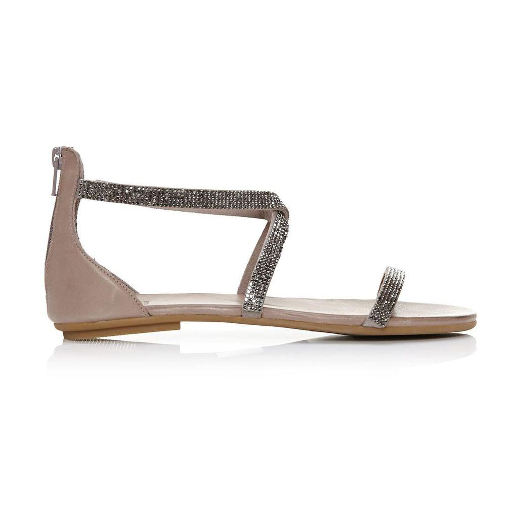Moda in Pelle Vannah Grey Flat Casual Sandals