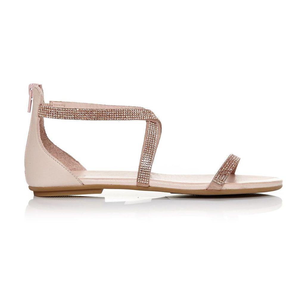 Moda in Pelle Vannah Nude Flat Casual Sandals