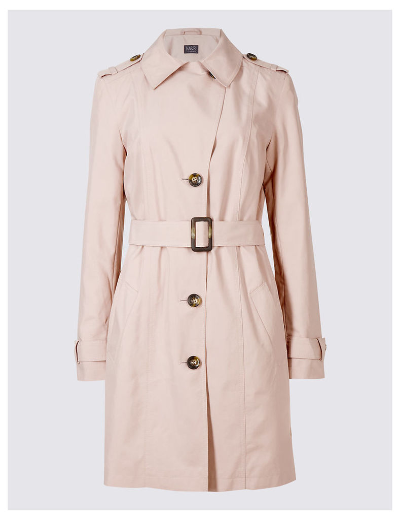 M&S Collection Trench Coat with Stormwear
