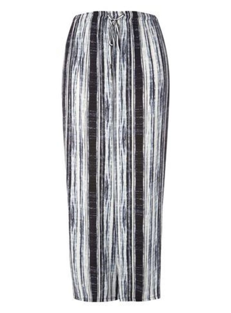Live Unlimited Black Stripe Wide Leg Trousers, Black