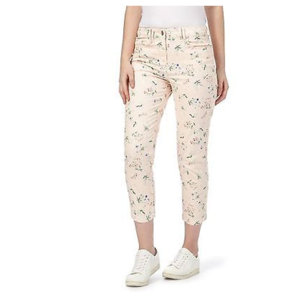 Red Herring Womens Multi-Coloured Printed Cropped Jeans From Debenhams