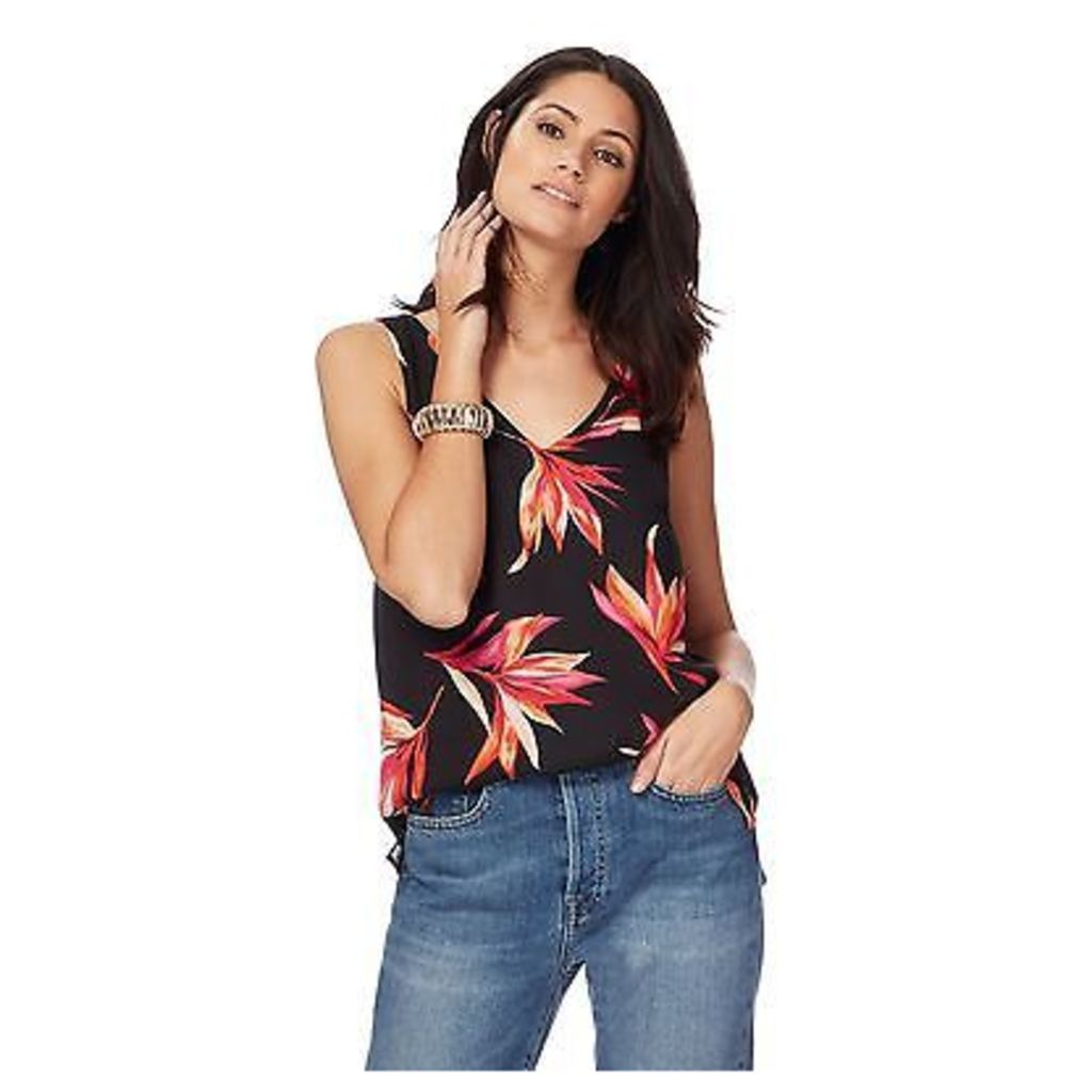 The Collection Womens Black Floral Print Camisole Top From Debenhams