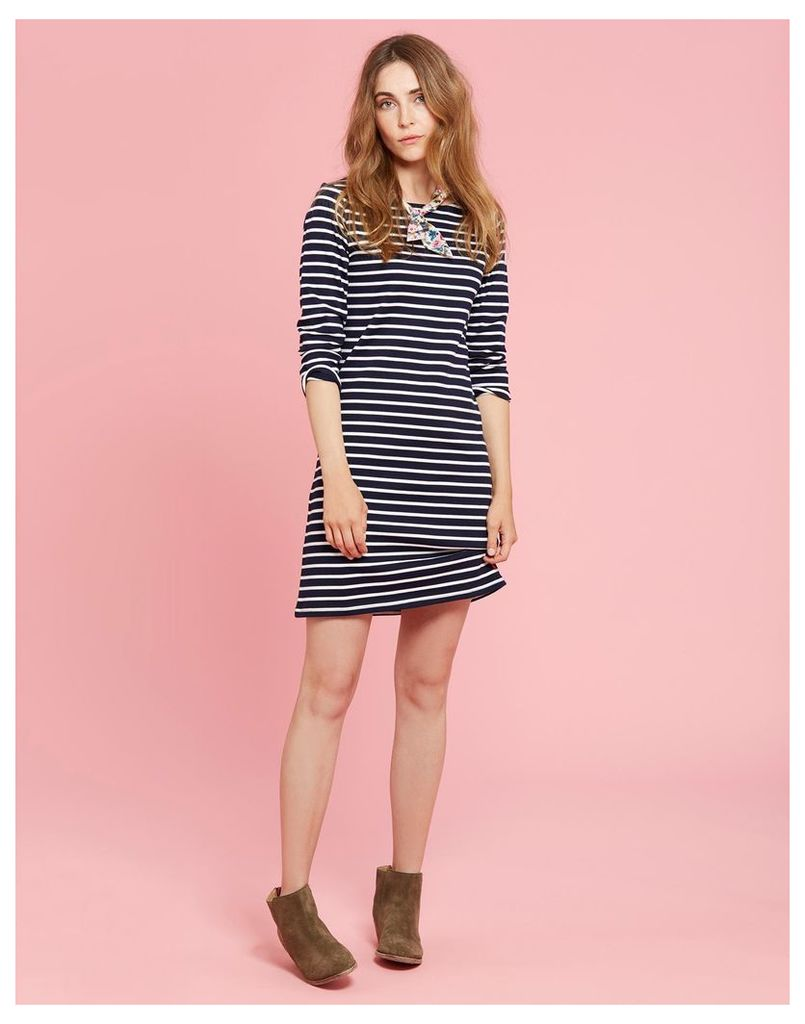 Hope Stripe French Navy Riviera Jersey Dress  Size 6 | Joules UK