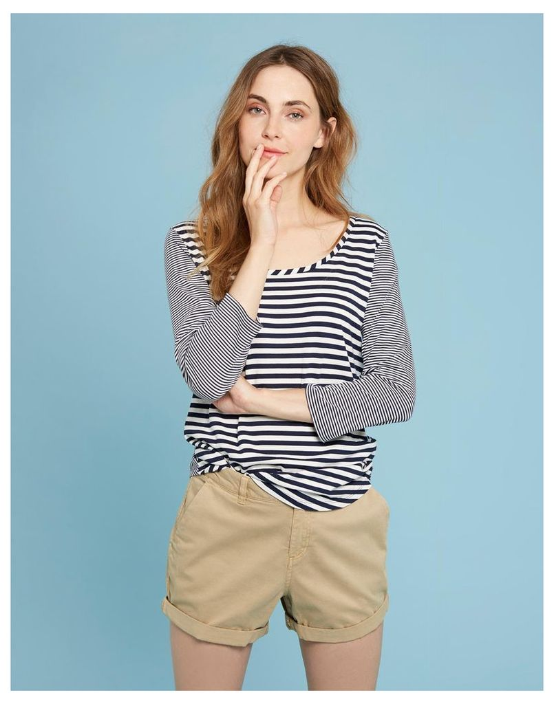 French Navy Stripe Mairin Jersey Top  Size 8 | Joules UK