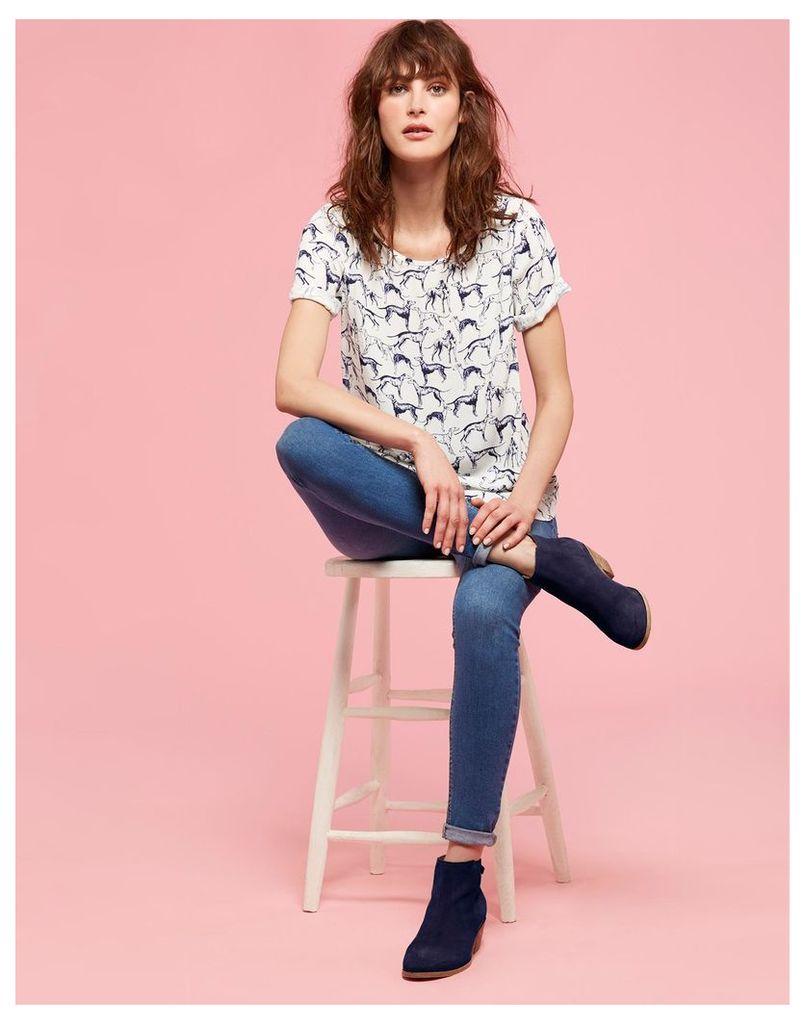 Cream Whippet Hannah Woven Shell Top  Size 12 | Joules UK