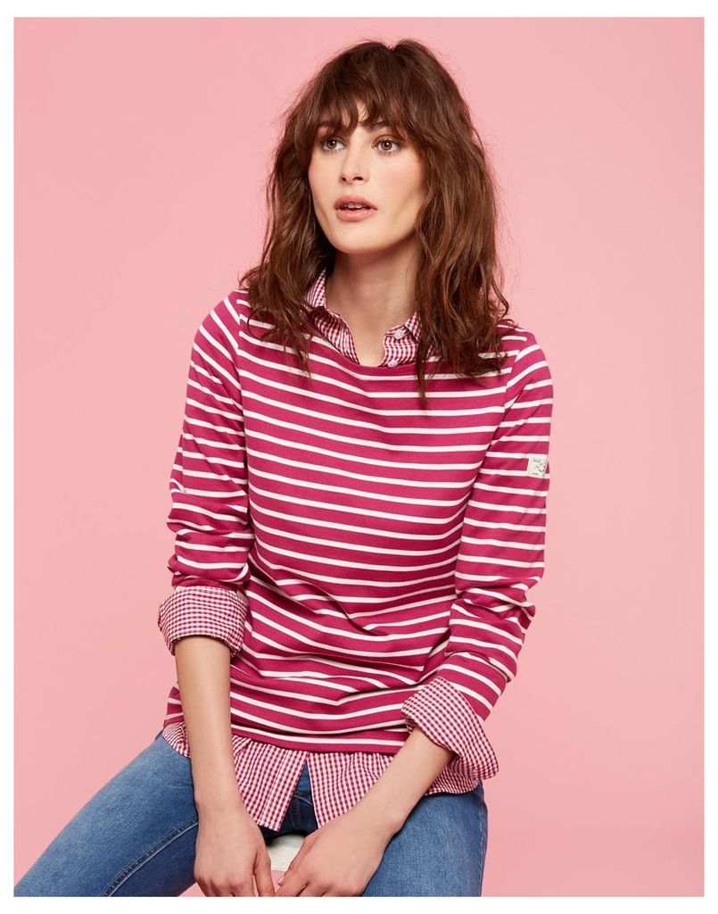 Ruby Stripe Harbour Jersey Top  Size 16 | Joules UK