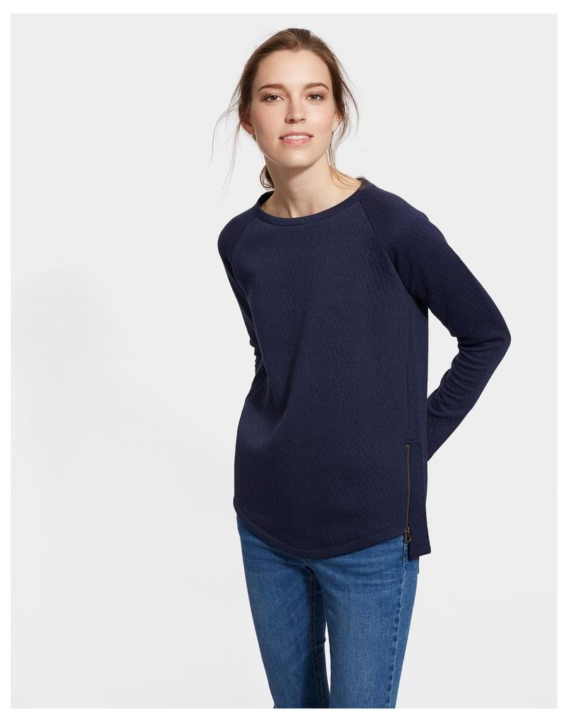 French Navy Lilou Textured Sweatshirt  Size 14 | Joules UK