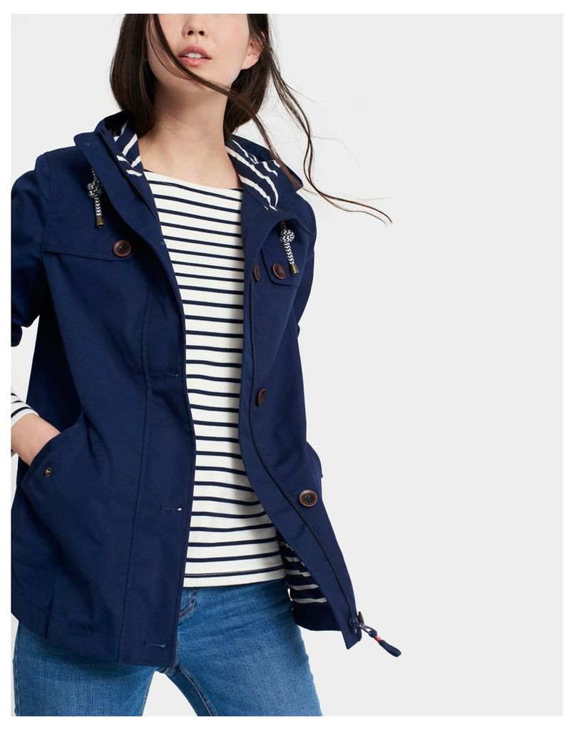 French Navy Coast Waterproof Jacket  Size 6 | Joules UK