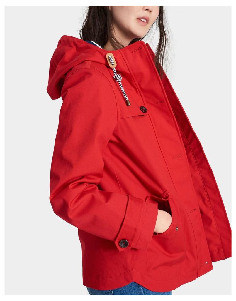 Red Coast Waterproof Jacket  Size 12 | Joules UK