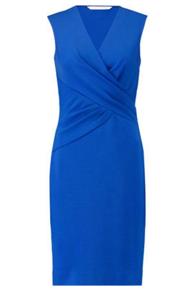Diane von Furstenberg - Leora Wrap-effect Stretch-crepe Dress - Bright blue