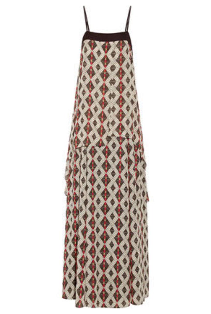 Camilla - Layered Printed Crepe De Chine Maxi Dress - Multi