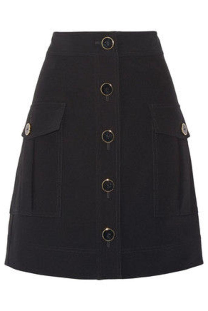 DKNY - Stretch-cady Skirt - Black