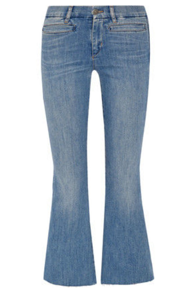 M.i.h Jeans - Marrakech Cropped Mid-rise Flared Jeans - Mid denim