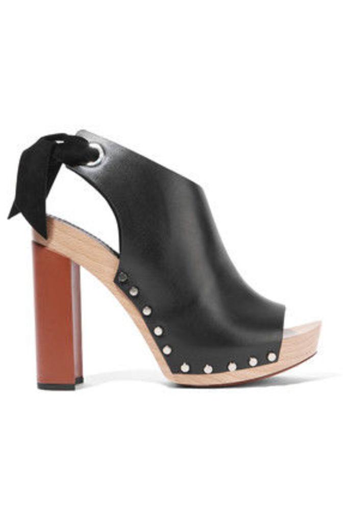 Proenza Schouler - Leather Platform Sandals - Black