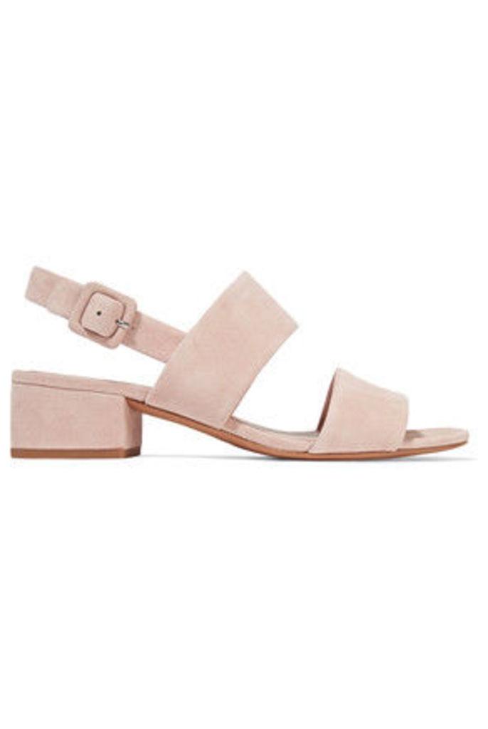 Vince - Taye Suede Slingback Sandals - Pastel pink