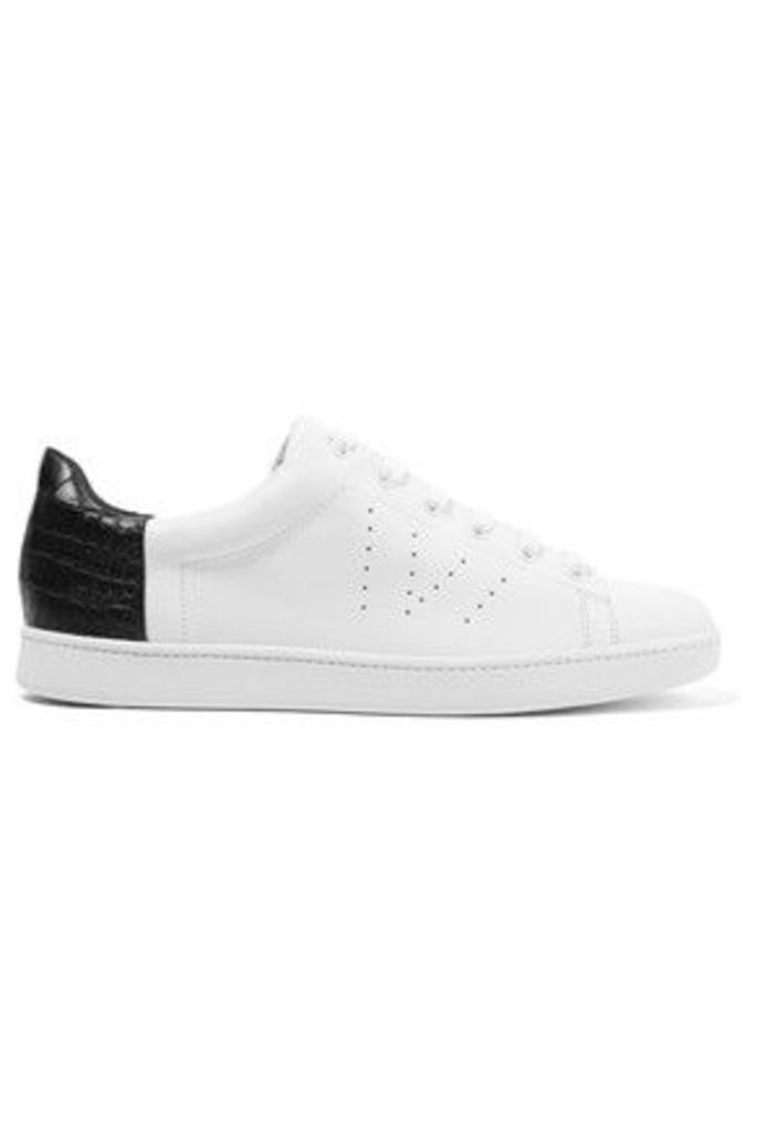Vince - Paneled Croc-effect And Smooth Leather Sneakers - White