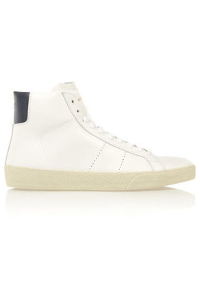 Saint Laurent - Court Classic Leather High-top Sneakers - White