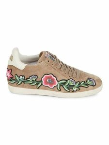 Gull Embroidered Suede Sneakers