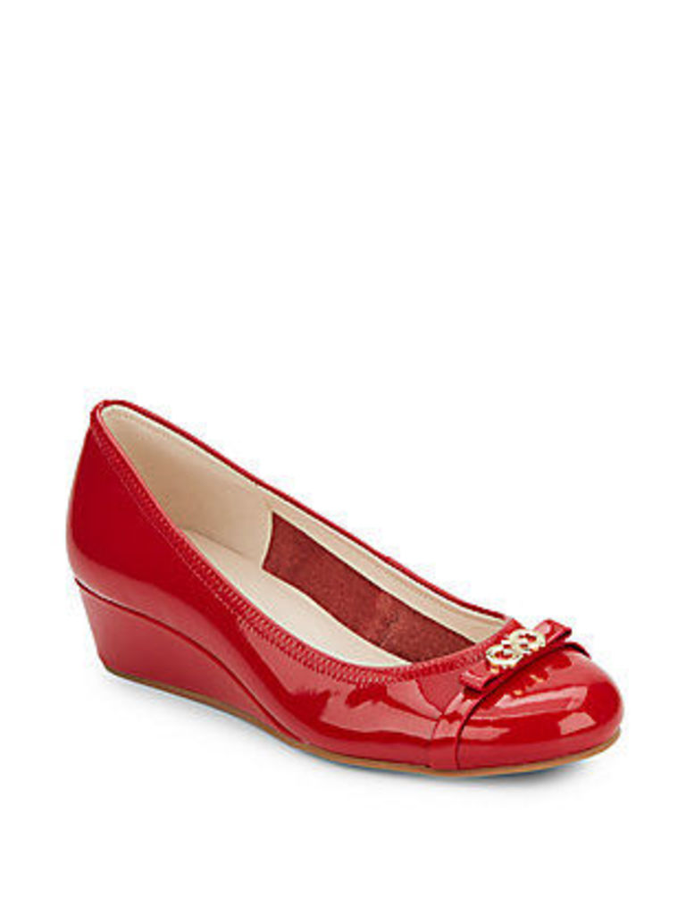 Elsie Patent Leather Wedges
